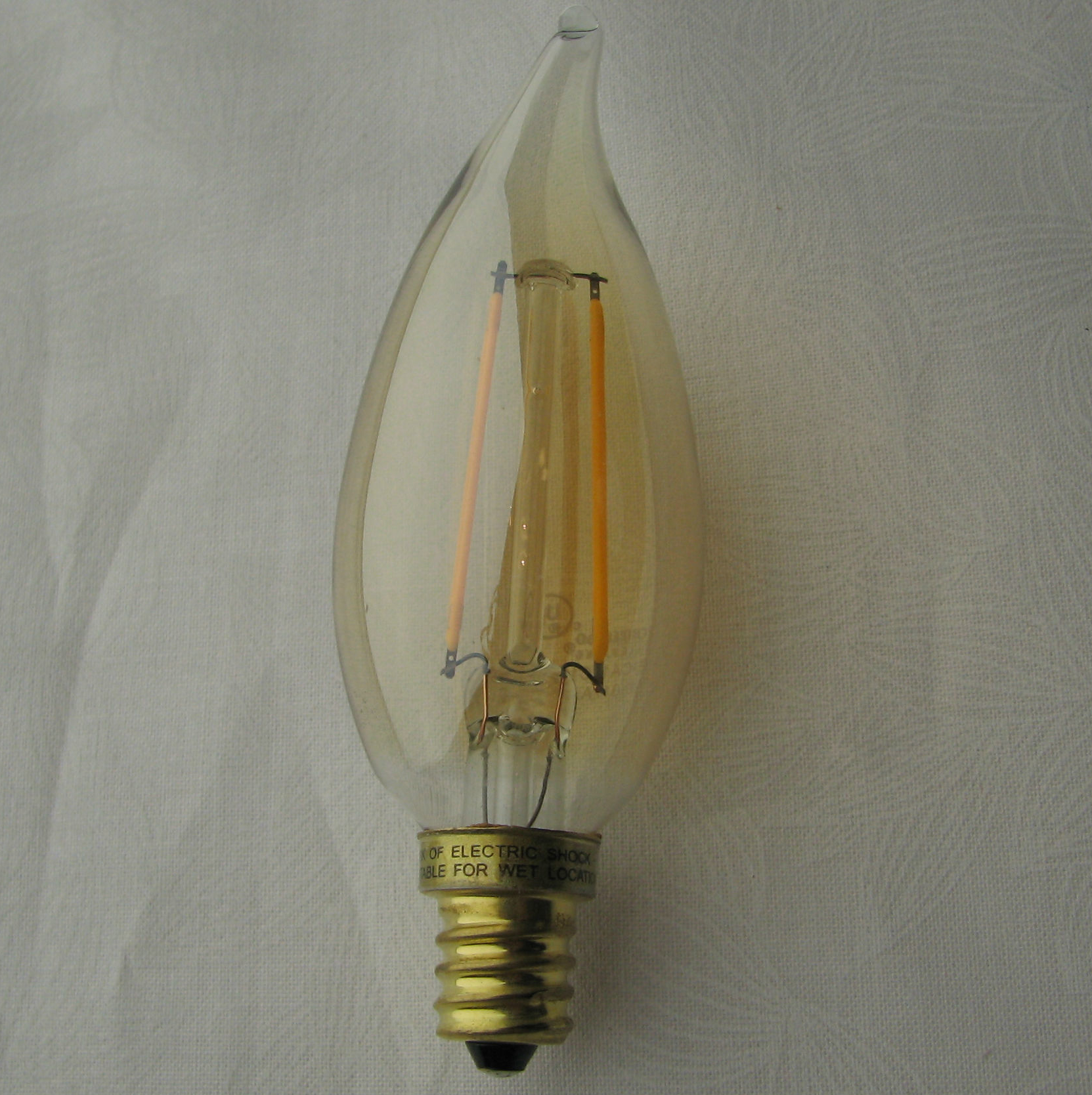 Led filament type 2 watt chandelier bulb led filament type 2 watt chandelier bulb or energy efficient arubaitofo Gallery